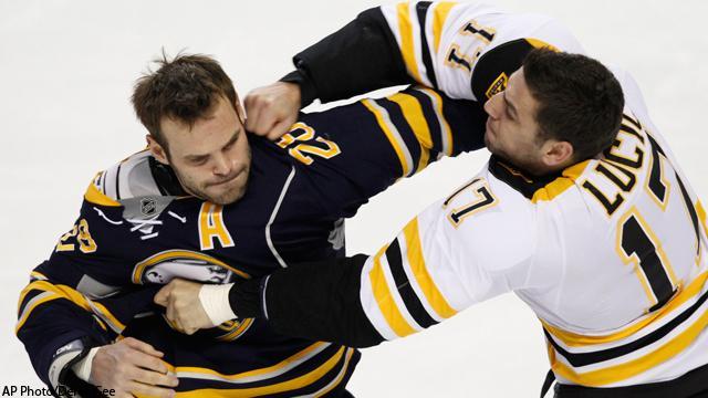 Bruins Hockey Fights Bruins' Lucic Keep Fighting