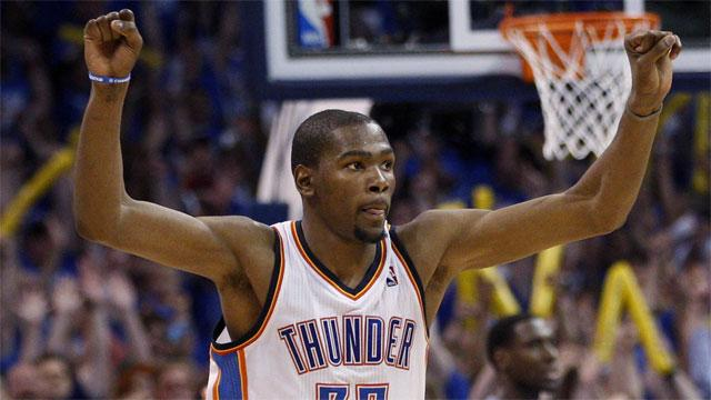 3564ecf4e699 Durant leads Thunder past Spurs