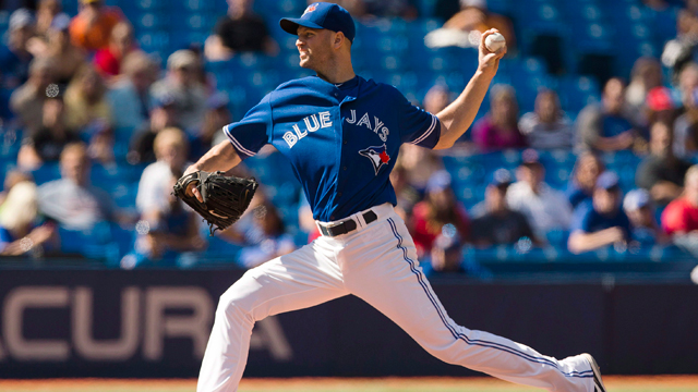 Jays' Happ sidelined with back inflammation