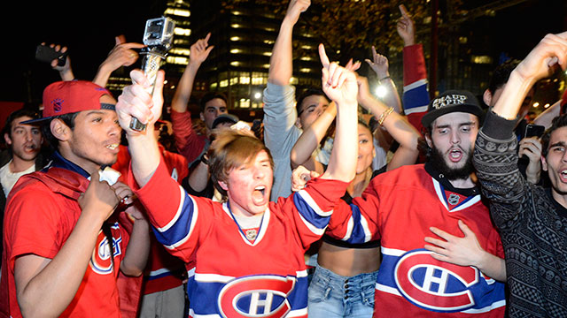 Habs Fans Pour Into Streets To Celebrate