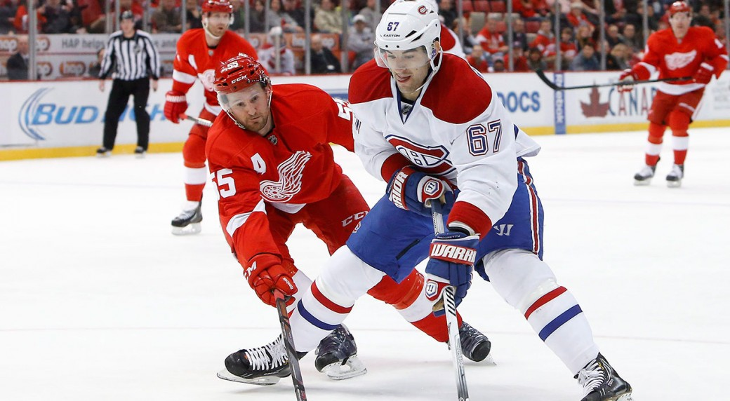 Max-Pacioretty;-Niklas-Kronwall;-Detroit-Red-Wings;-Montreal-Canadiens