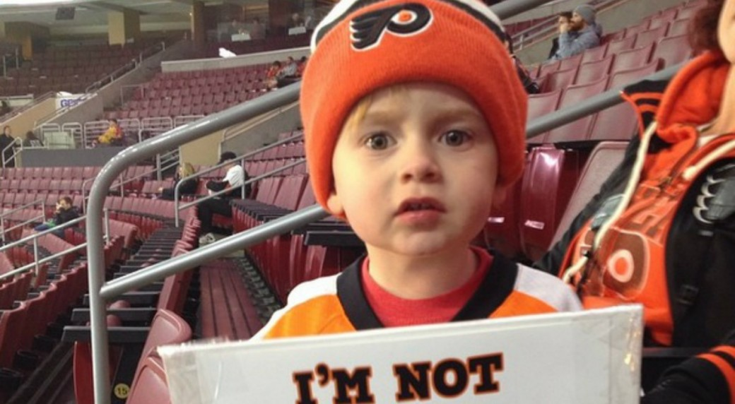 Adorable Voracek Fan Gets Signed Jersey