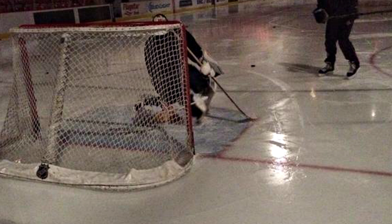Luongo practises through Detroit power outage