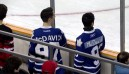 Maple Leafs Fans Don McDavid Jerseys At Otters Game