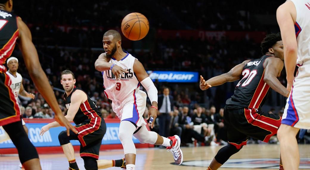 Jordan-less Clippers topple Heat to win 10th straight ... Chris Paul Heat