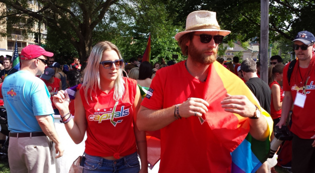 Braden Holtby participated in Saturday s gay pride event in Washington D.C.  as a representative of the Washington Capitals. c87b5d24df6a