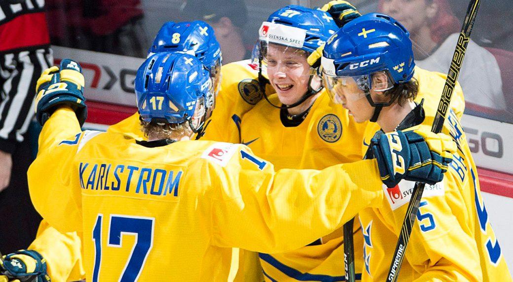 Jonathan Dahlen scored three goals as Sweden downed the Czech Republic ...