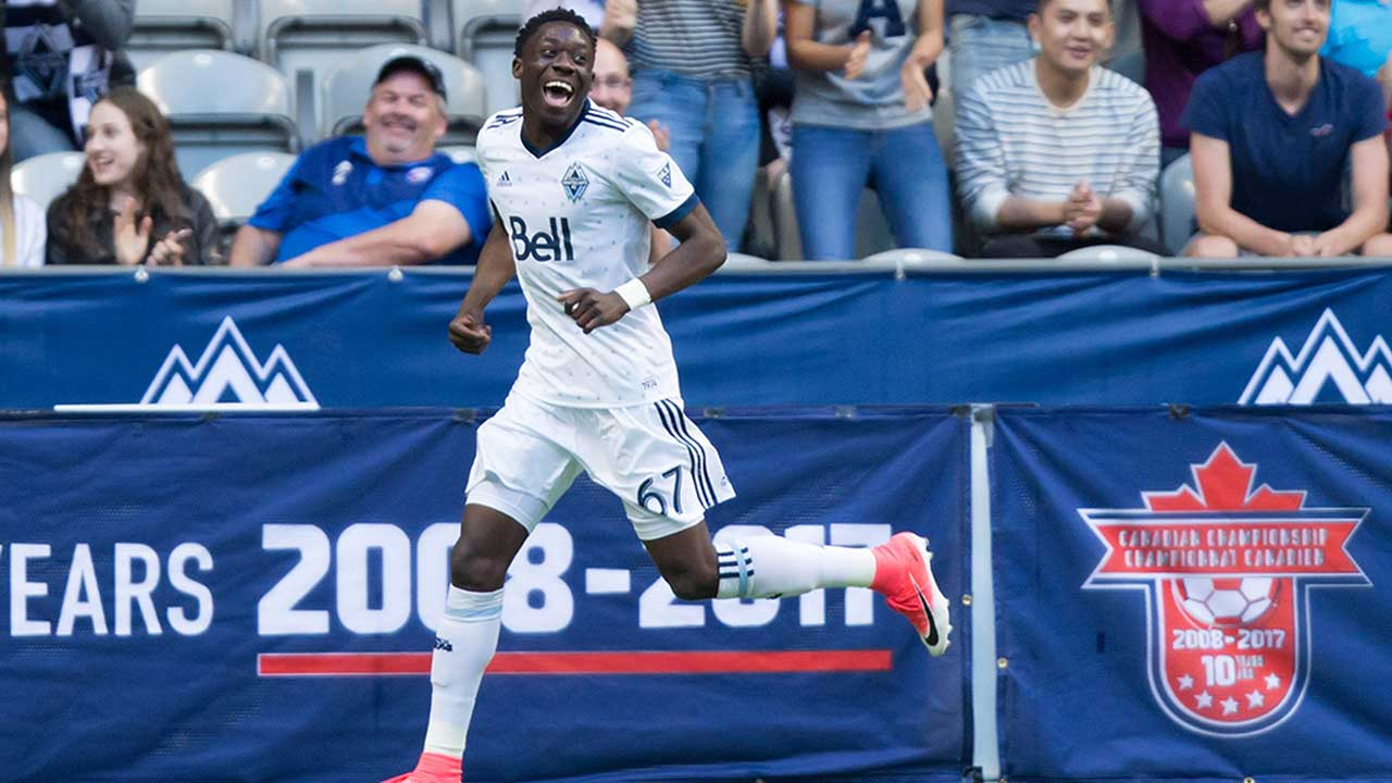 Canadian youngster Alphonso Davies hitting his mark for Whitecaps