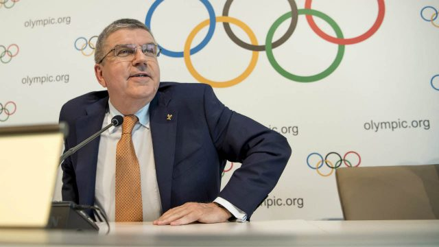 International-Olympic-Committee,-IOC,-President-Thomas-Bach-from-Germany,-attends-a-press-conference-after-an-executive-board-meeting,-at-the-Olympic-Museum,-in-Lausanne,-Switzerland,-Friday,-June-9,-2017.-(Jean-Christophe-Bott/Keystone-via-AP)