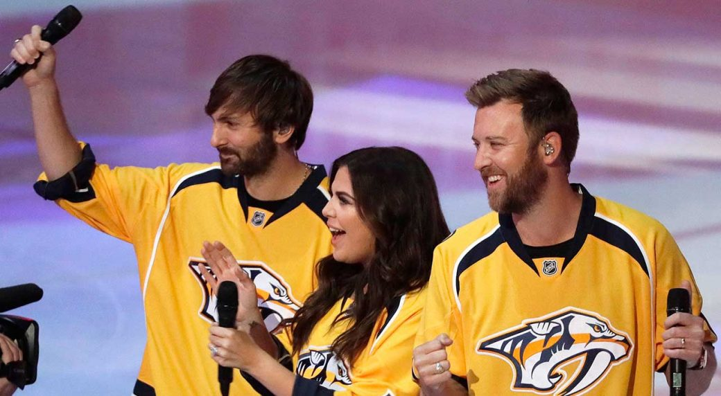 719cf389d4a The country group Lady Antebellum performs the national anthem in  Nashville. (Mark Humphrey AP). John Shannon ...