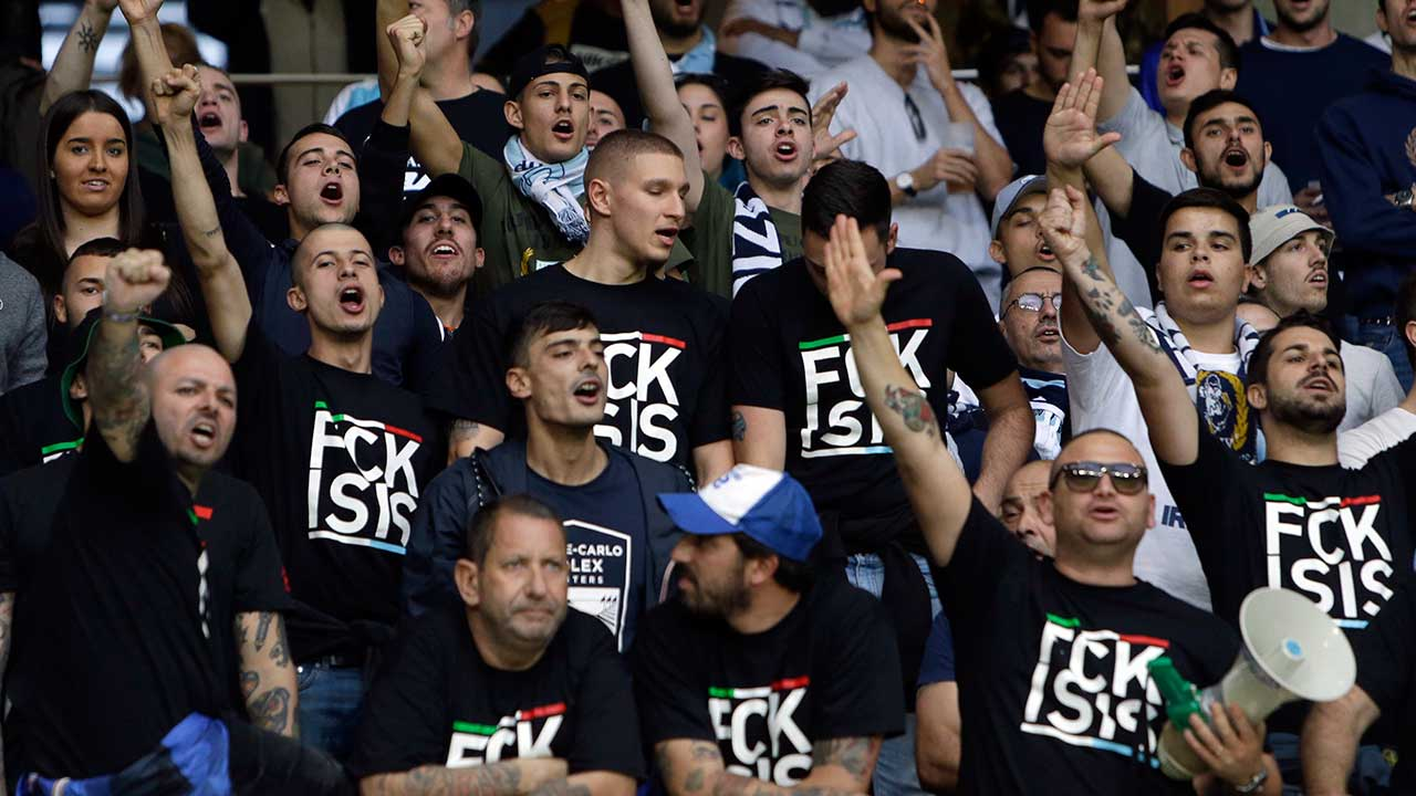 Lazio fans leave anti-Semitic stickers of Anne Frank images