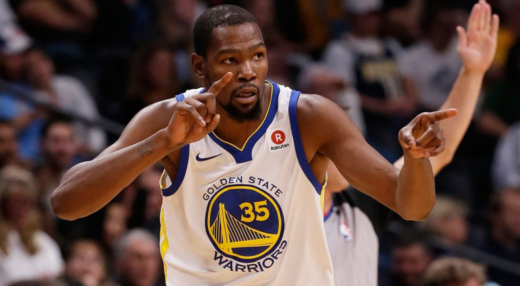 hot sale online 5a311 aef01 Warriors strangely roast Kevin Durant at championship parade
