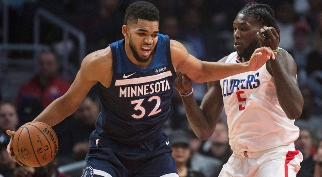 Karl-Anthony Towns leads Timberwolves past sinking Clippers ... 0c41fdf9e