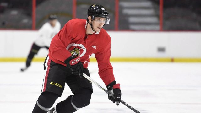 Senators-centre-Matt-Duchene-skates-during-his-first-practice-after-being-traded-from-the-Colorado-Avalanche-in-Ottawa,-Monday-November-6,-2017.-Duchene-was-traded-to-the-Senators-in-a-three-team-deal-that-sent-centre-Kyle-Turris-to-the-Nashville-Predators.-(Justin-Tang/CP)