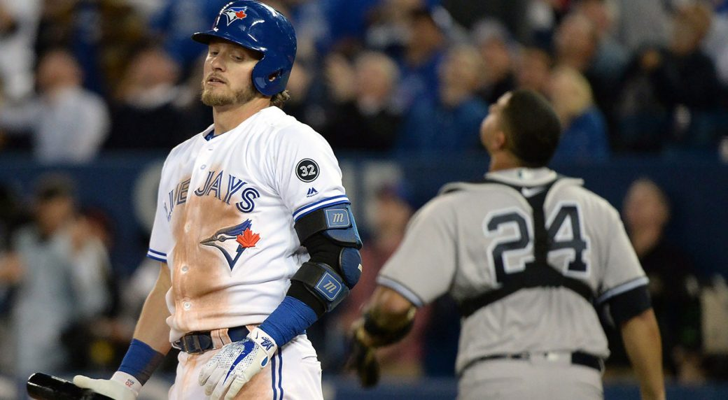 Josh Donaldson dealing with a 'dead' arm