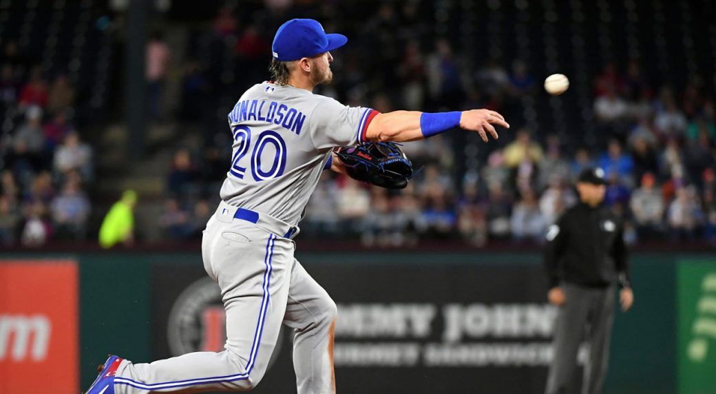 Blue Jays place Donaldson (shoulder) on DL