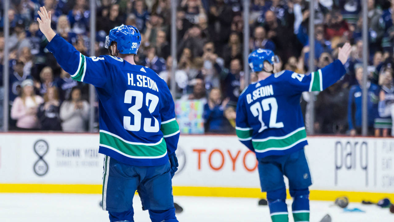 "A well deserved honor. The Sedins are rafter bound when the Canucks' celebrate ""Sedin Week"" in February"