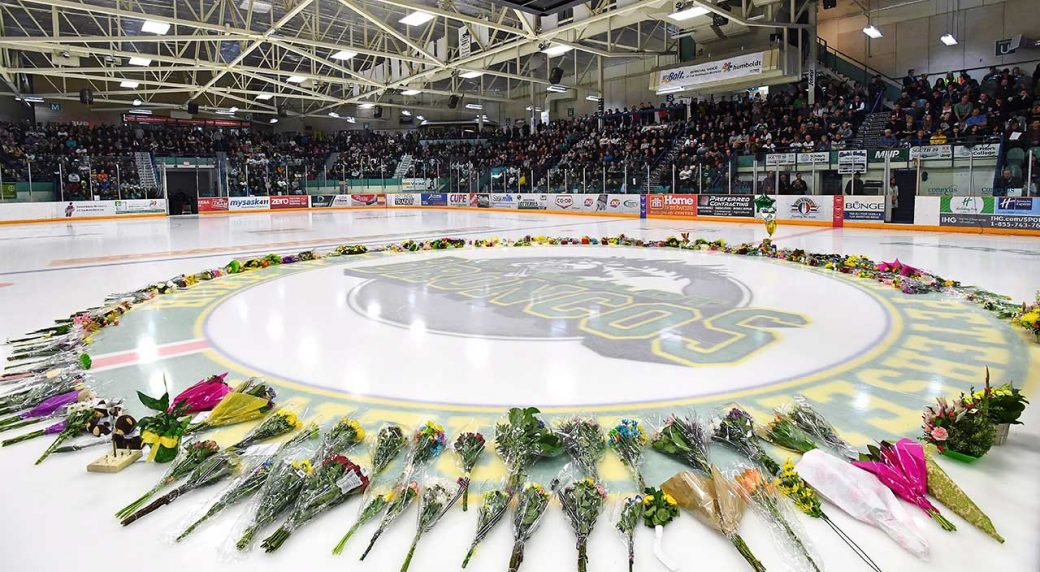 SJHL: Four Humboldt Broncos Killed In Bus Crash Mourned At Edmonton Service