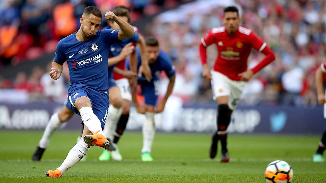 Eden Hazard goal lifts Chelsea past Manchester United in FA Cup final