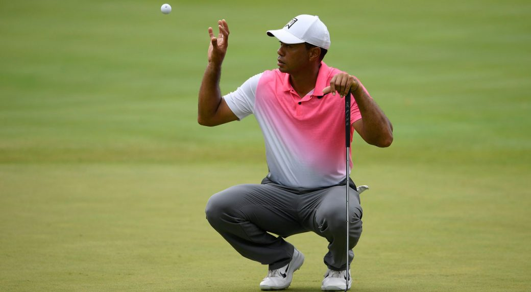 new putter doesn u0026 39 t help slumping woods at quicken loans