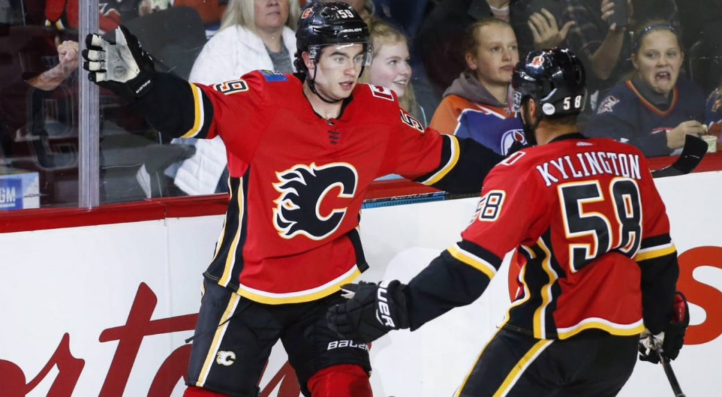 868dea1bda9 Flames  Dillon Dube makes NHL case with exhibition hat trick ...
