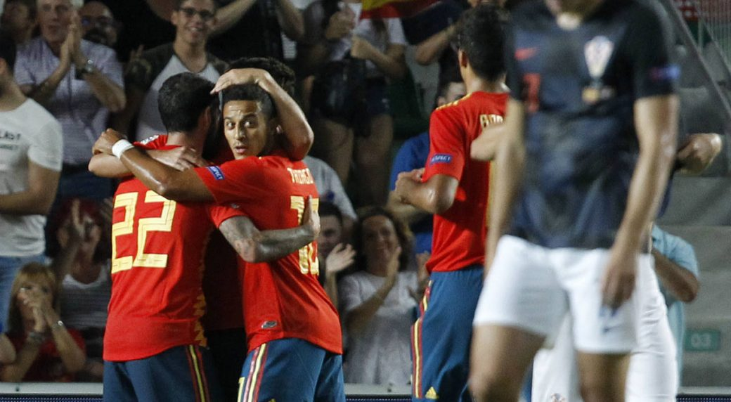 Sergio Busquets involved in Spain's rout of Ivan Rakitic's Croatia