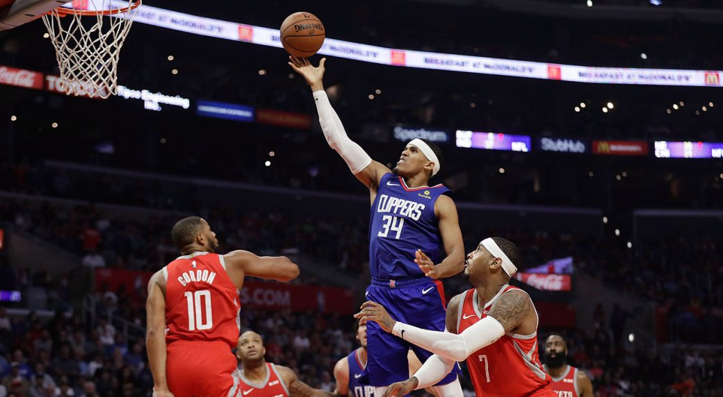 c9aa141e7 Clippers bench comes up clutch in win over Rockets. Los Angeles ...