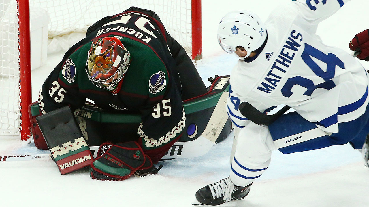 Maple Leafs unconcerned by off-night against disciplined Coyotes ... 0975a0994