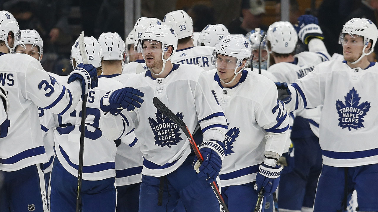 On A Winger And A Prayer. Matthew's Third Period Goal Spurs Leafs To Series Lead